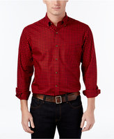 Club Room Men's Gingham Long-Sleeve Shirt