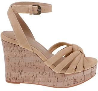 Splendid Fallon Suede Wedge Sandals