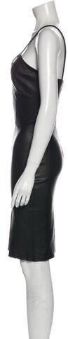 Thumbnail for your product : Jitrois V-Neck Knee-Length Dress Black