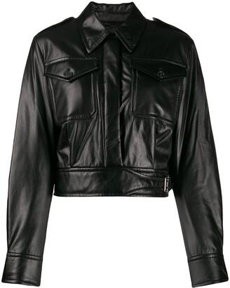 Helmut Lang Cropped Leather Jacket