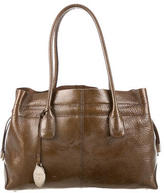 Tod's Metallic Patent Leather Tote