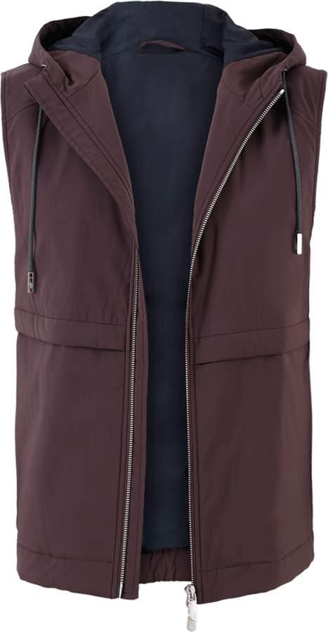 Eleventy Nylon Hooded Vest