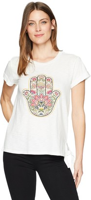 Democracy Women's Hamsa Embroidered TEE