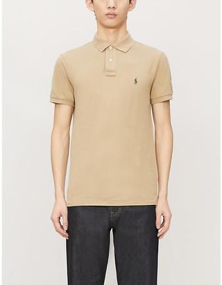 Polo Ralph Lauren Logo-embroidered slim-fit cotton-pique polo shirt