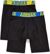 adidas 2-pk. Sport Performance Long Boxer Briefs - Boys 6-20