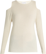 Velvet by Graham & Spencer Avril cut-out shoulder cashmere sweater