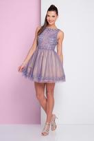 Terani Couture 1722H4583 Embellished Bateau A-line Dress
