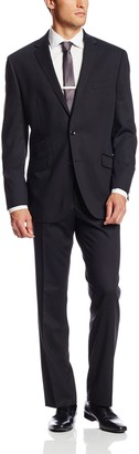 Kenneth Cole New York Men's Solid 2 Button Side Vent Suit
