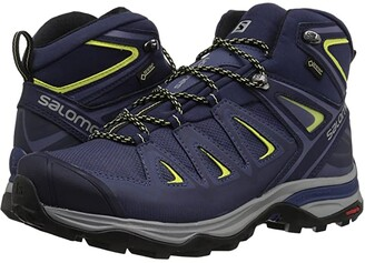 Salomon X Ultra 3 Mid GTX (Crown Blue/Evening Blue/Sunny Lime) Women's Shoes