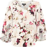 Episode V-neck floral 3/4 length sleeve blouse