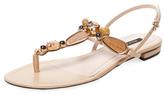 Ava & Aiden Jeanette Embellished Thong Sandal