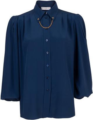 Givenchy Chain Detail Puff Sleeve Shirt