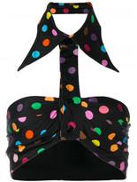 Givenchy polka dot collared bralette