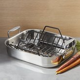 Crate & Barrel All-Clad ® Small Roasting Pan with Rack
