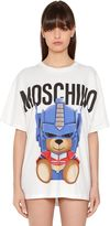 Moschino Oversized Printed Cotton Jersey T-Shirt