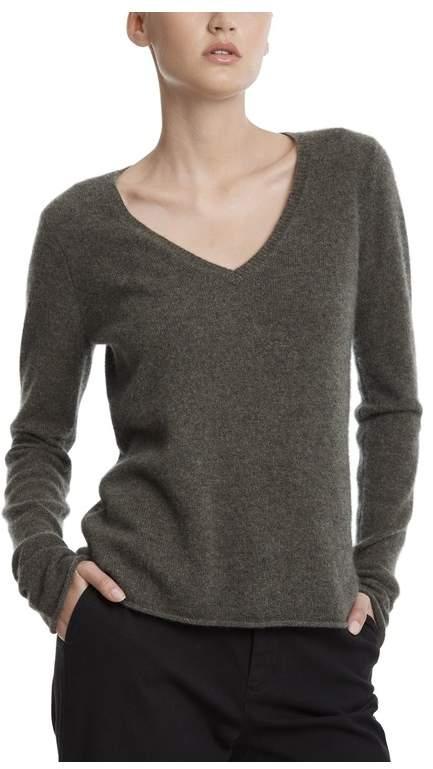 ATM Anthony Thomas Melillo Black Cashmere V-Neck Sweater