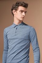 Next Mens Long Sleeve Knitted Polo