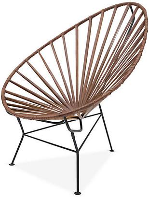 Mexa Acapulco Lounge Chair - Tobacco Leather black/tobacco