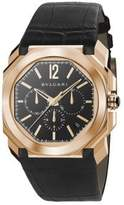 Bvlgari Octo 18K Pink Gold & Alligator Strap Watch