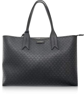 Emporio Armani Black Eagle Print Tote Bag