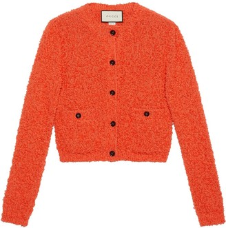 Cropped Cardigan Orange | Shop the world's largest