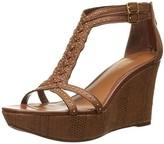 Lauren Ralph Lauren Women's Quanita Wedge Sandal Tan