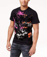 Versace Men's Velvet Embossed Print T-Shirt