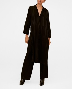 MANGO Long Shirt Dress