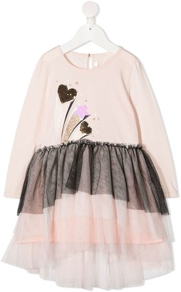 Billieblush tulle layered T-shirt dress