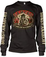Sons Of Anarchy Officially Licensed Merchandise SAMCRO - Men Of Mayhem Long Sleeve T-Shirt