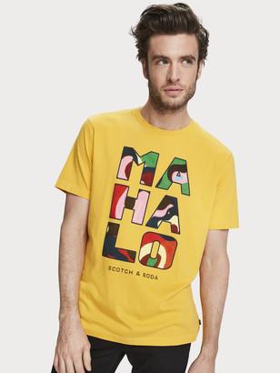 Scotch & Soda Printed Artwork T-Shirt   Men