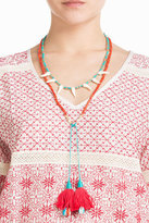 Aurelie Bidermann Squaw Necklace with Gold-Plated Stones and Turquoise