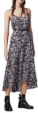 AllSaints Essie Leopard Print Maxi Dress