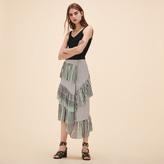 Maje Midi frilled skirt