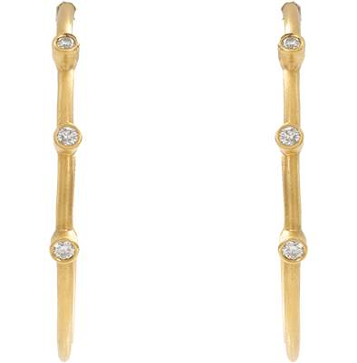Yossi Harari Medium Jane Hoop Earrings