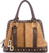 Dolce & Gabbana Shearling-Trimmed Handle Bag