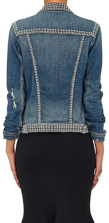 L'Agence Women's Celine Studded Denim Trucker Jacket