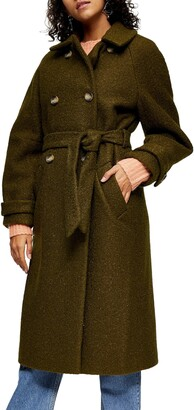 Topshop Arin Boucle Trench Coat