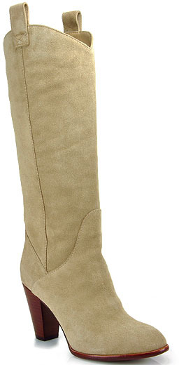 Marc by Marc Jacobs 626851 - Tall Suede Cowboy Boot in Sand