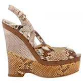 Gucci Beige Exotic leathers Sandals