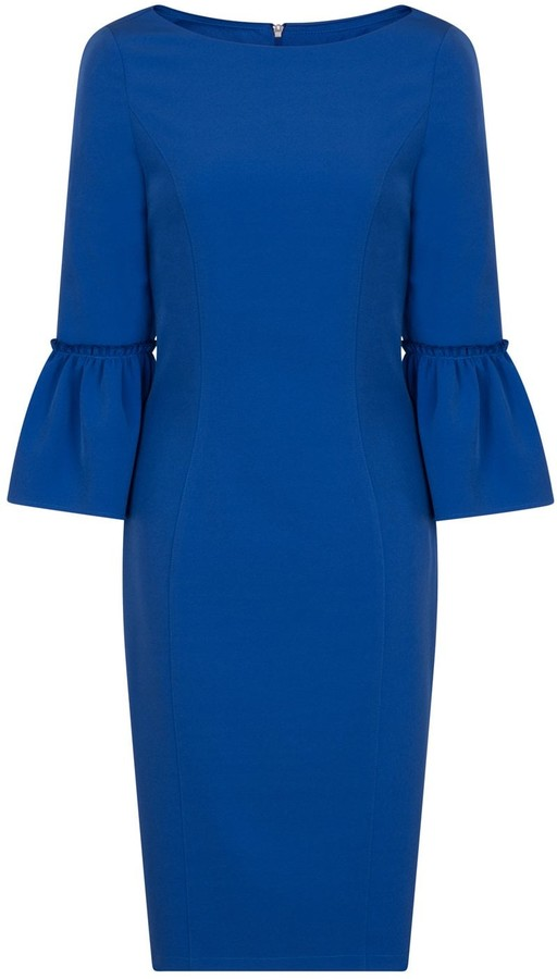 Paper Dolls Outlet Cobalt Fluted Dress