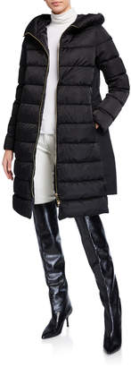Herno Long A-Line Hooded Puffer Coat