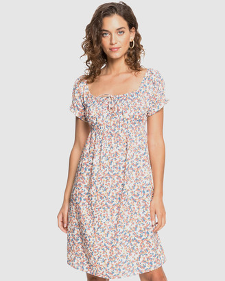Roxy Womens Strawberry Swing Printed Short Sleeve Dress