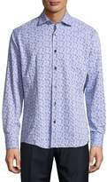 Bogosse Men's Printed Button-Down Shirt