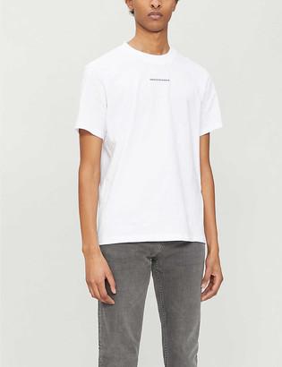Sandro Solid regular-fit organic cotton-jersey T-shirt