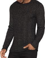 John Varvatos Textured Crewneck Sweater
