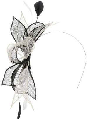 Collection Sinemay Bow With Feathers Fascinator