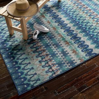 "Isabelle & Maxâ""¢ Hennessy Blue Rug Isabelle & Maxa Rug Size: Rectangle 7'7"" x 10'5"""