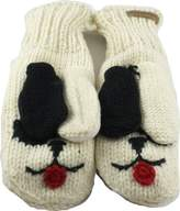 Revive Online Men's Nepal Animal Mittens Wool Hand Made Puppy Dog