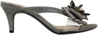 J. Renee Mid-Heel Slide Sandals - Gredel
